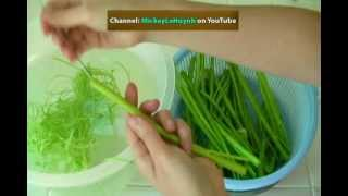 Vietnamese Food Day Nau An Nom Goi Rau Muong - How To Make Shrimp Water Spinach Salad Ung Choi