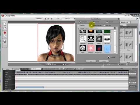 CrazyTalk6 Tutorial – SFX & Modification