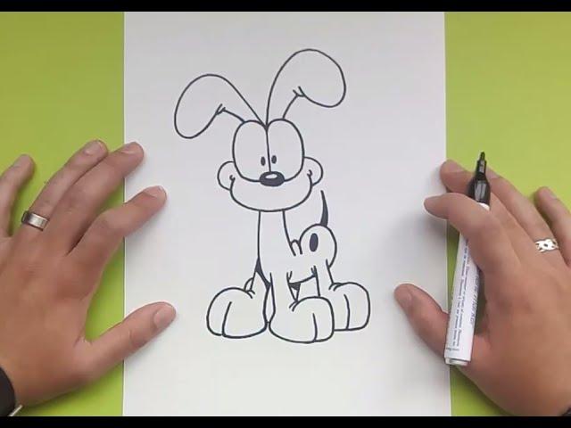 how to draw garfield youtube