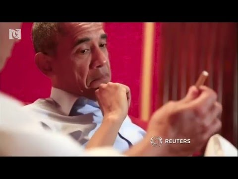 U.S. President Barack Obama tries to get a driver's license and turns to former Speaker of the House John Boehner for advice about retirement, in a video spoof at the White House Correspondents' Dinner.