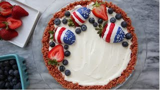 No-Bake American Flag Cheesecake Recipe | Eat the Trend by POPSUGAR Girls' Guide