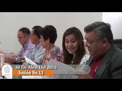 Sesión Ordinaria No. 13 de Ayuntamiento 30 de abril de 2016