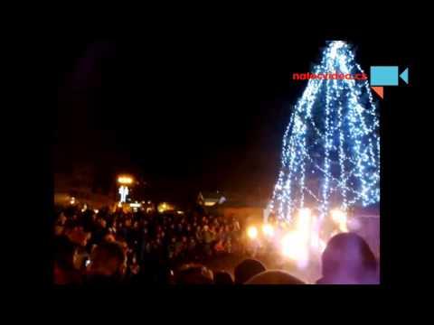 Ohňová show u vánočního stromu Litoměřic