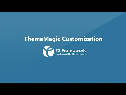 T3v3 Framework Video Tutorials - ThemeMagic Customization