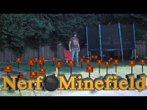 NERF MINEFIELD!