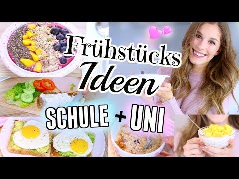 5 DIY gesunde FRÜHSTÜCKS-IDEEN für SCHULE + UNI ♡ BarbaraSofie (видео)