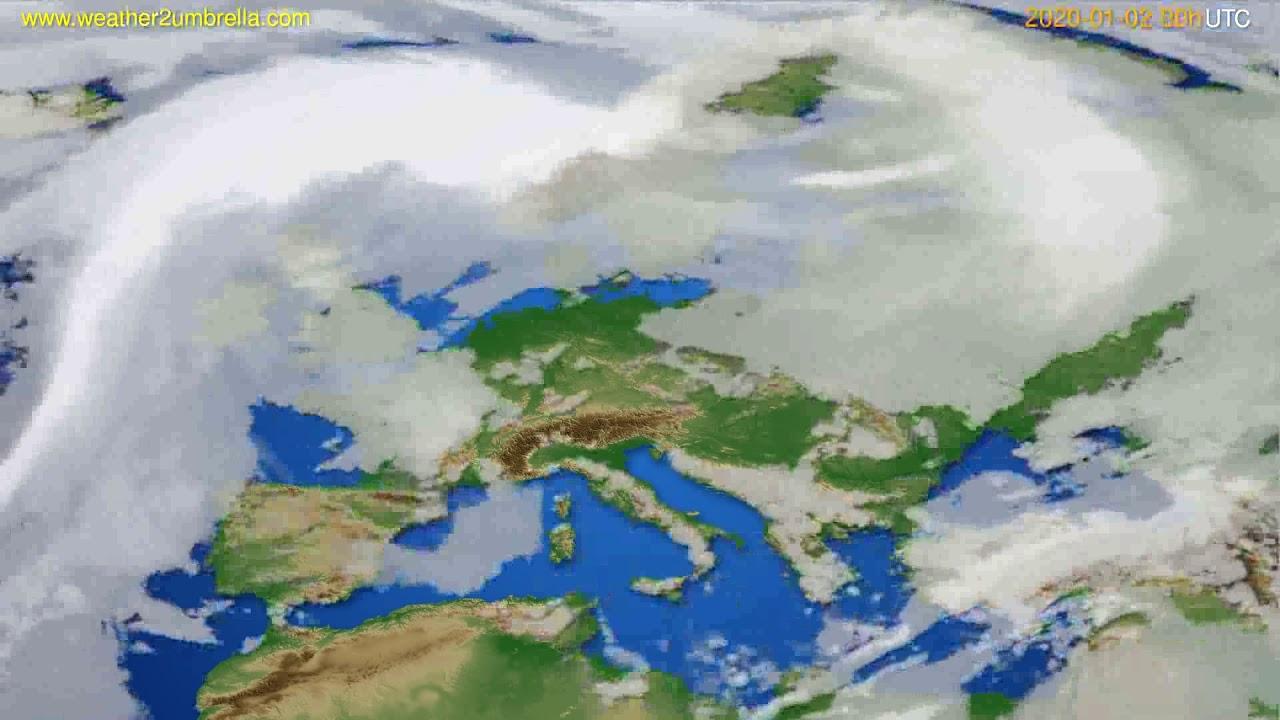Cloud forecast Europe // modelrun: 00h UTC 2020-01-01