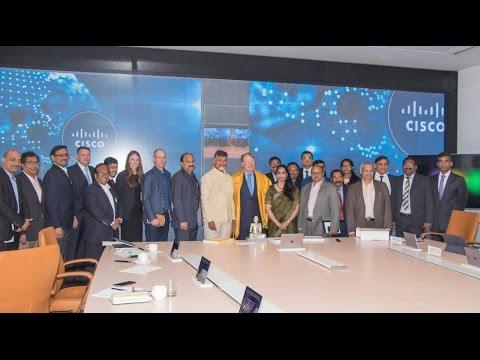 Chandrababu Naidu Visits CISCO office at San Jose