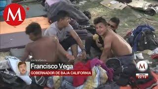 Caravana de migrantes sigue en Baja California
