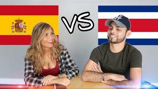 GUERRA DE PALABRAS! ESPAÑA VS COSTA RICA En este video Sofia y yo nos divertimos aprendiendo palabras de diferentes países, alguna similitud en ...