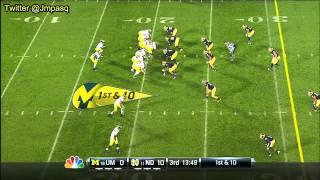 Taylor Lewan vs Notre Dame (2012)