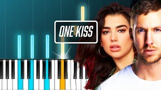 "Video Calvin Harris - ""One Kiss"" ft Dua Lipa Piano Tutorial - Chords - How To Play - Cover MP3, 3GP, MP4, WEBM, AVI, FLV April 2018"