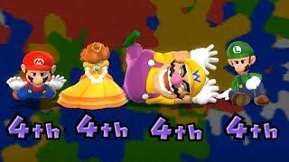 Mario Party 9 Garden Battle - Mario vs Daisy vs Wario vs Luigi| Cartoons Mee