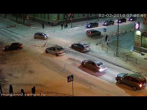 Лобовая авария в Петрозаводске