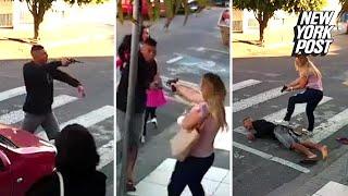 Hero mom saves the day killing gunman outside school | New York Post