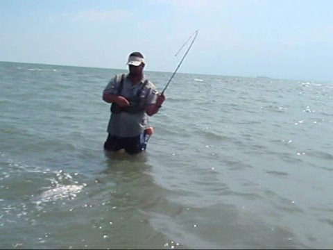Speckled trout while wading in texas oct 2008 coastal for Surf fishing waders