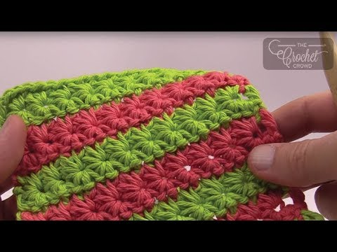 tutorial uncinetto/crochet || punto stella / star stitch