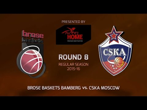 Highlights: RS Round 8, Brose Baskets Bamberg vs. CSKA Moscow