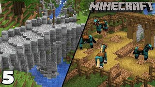 Building a Mine #5 Medieval Bridge and Stables : Minecraft 1.14 Survival Let's Play