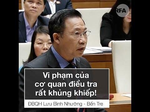 ĐBQH Lưu Bình Nhưỡng bị yêu cầu xin lỗi sau khi nói về vi phạm của CA tại nghị trường