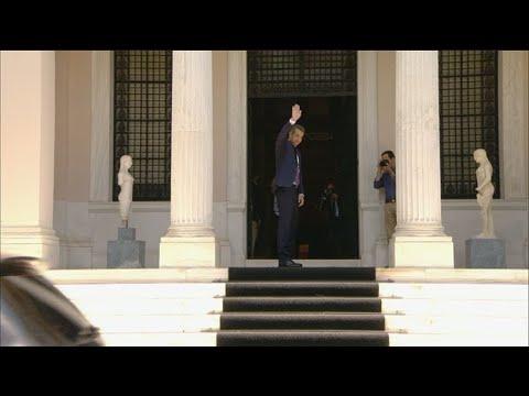 Στο Μέγαρο Μαξίμου ο νέος πρωθυπουργός