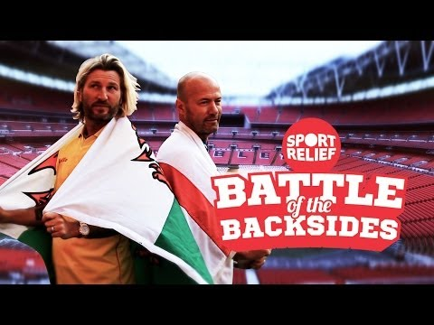 Alan Shearer v Robbie Savage in the Battle of the Backsides