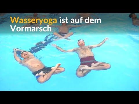 Neuer Trend in Indien: Entspannen beim Wasseryoga