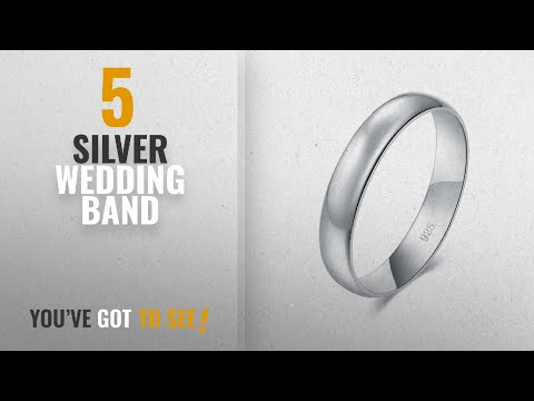 10 Best Silver Wedding Bands : 925 Sterling Silver Ring High Polish Plain Dome Tarnish Resistant