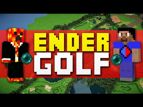 Minecraft ENDER GOLF #3 with Vikkstar123 & PrestonPlayz (Minecraft Enderpearl Golf)