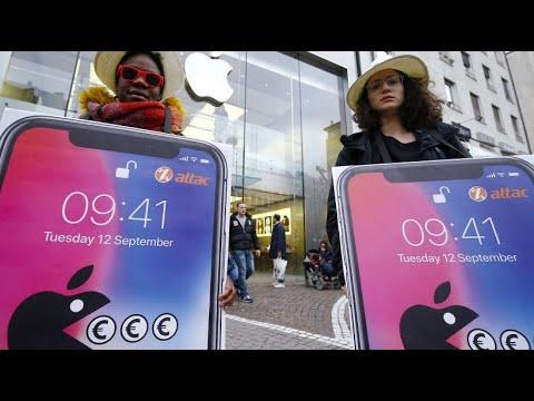 """Flashmob im Apple-Store: """"Zahlt endlich eure Steuern!"""""""