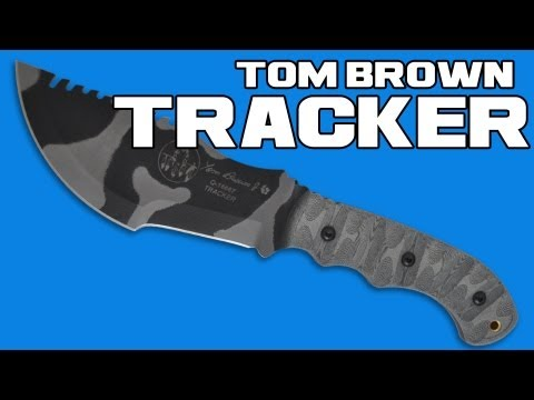 "TOPS Knives Tom Brown Tracker #1 Fixed Blade Knife (6.375"" Black) TBT-010"