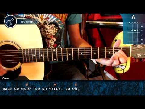 Como tocar NADA FUE UN ERROR - Coti - SUPER FACIL PRINCIPIANTES en Guitarra Acustica (HD) Tutorial