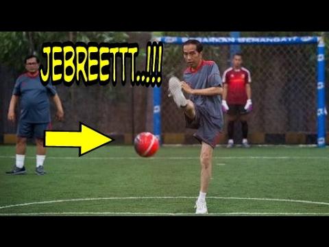 Kelucuan Presiden RI (Jokowi) Saat Main Futsal