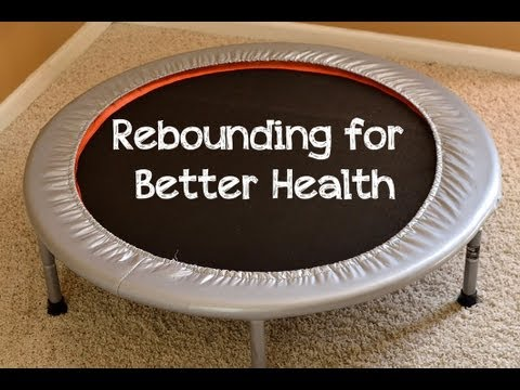 better health - Just 5-10 minutes a day on a rebounder (aka mini-trampoline) can improve your health for the better, by stimulating your lymph system and helping you burn ca...