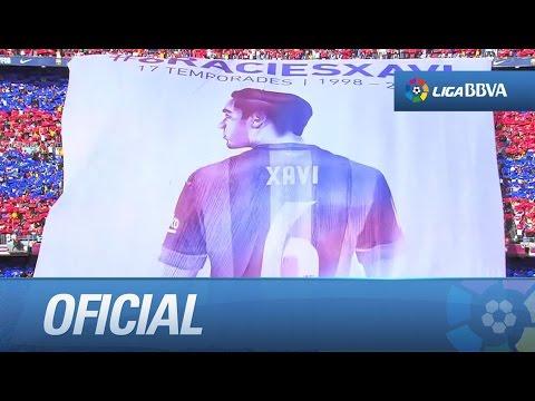 Último partido de Xavi en La Liga con el FC Barcelona видео