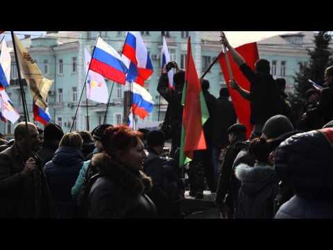 Российский флаг был поднят над ОДА в Луганске