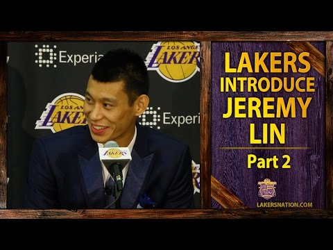 lakers - At Jeremy Lin's introductory press conference, he says he was completely surprised when he was traded to the Lakers, also talks about the fans in Asia and Kobe being an idol. Join the Largest...