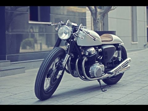racer - Adonis Syrimis building a 1969 CB750 Cafe Racer known as