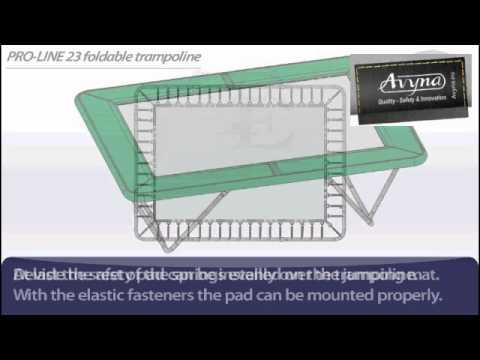 AVYNA PRO-LINE 23 Rechthoek Opklapbaar 3m00 x 2m25 | Montage trampoline