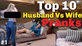 Video TOP 10 HUSBAND VS WIFE PRANKS OF 2018 -Youtube Rewind MP3, 3GP, MP4, WEBM, AVI, FLV Februari 2019