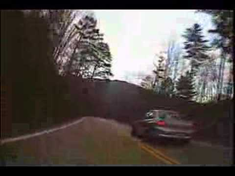 R6 chasing modified Evo at Deals Gap