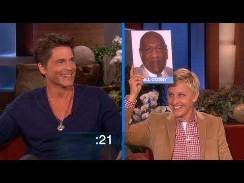 Lowe - He showed off his skills to Ellen by impersonating some major stars. How many could you guess?