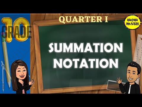 HOW TO EVALUATE SUMMATION NOTATION || GRADE 10 MATHEMATICS Q1