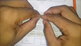 How to Build Series Parallel Circuit On Breadboard ( In Hindi + English Subtitle )