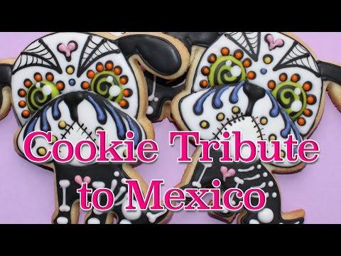 Day of the dead cookies how to make - Dia de los muertos cookie
