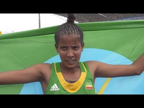 Ethiopia's Kalkidan Fentie wins 5000m – IAAF World U20 Championships