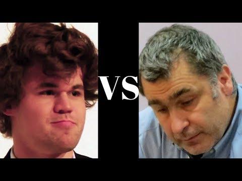 Amazing Chess Game : Magnus Carlsen vs Vassily Ivanchuk – Bilbao – Nimzo-Indian Defense (E21)