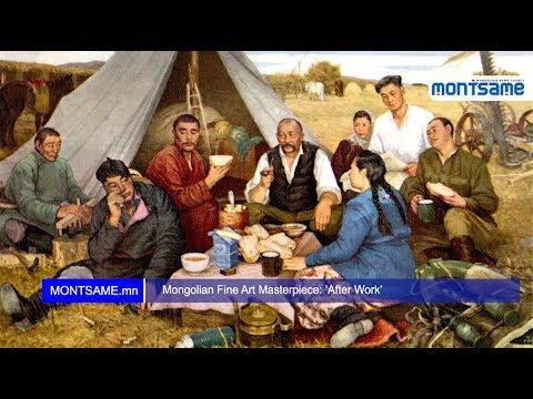 Mongolian Fine Art Masterpiece: 'After Work'