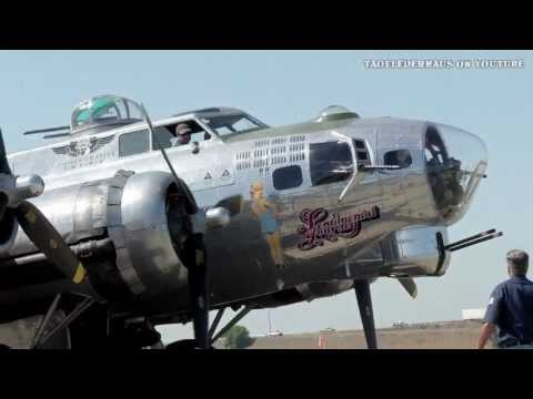 B17 - I decided to set all three of my cameras on HD this time and set them at different zooms to film this B-17 starting up. I realize I all ready showed this tak...