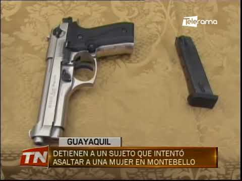 Detienen a un sujeto que intentó asaltar a una mujer en Montebello